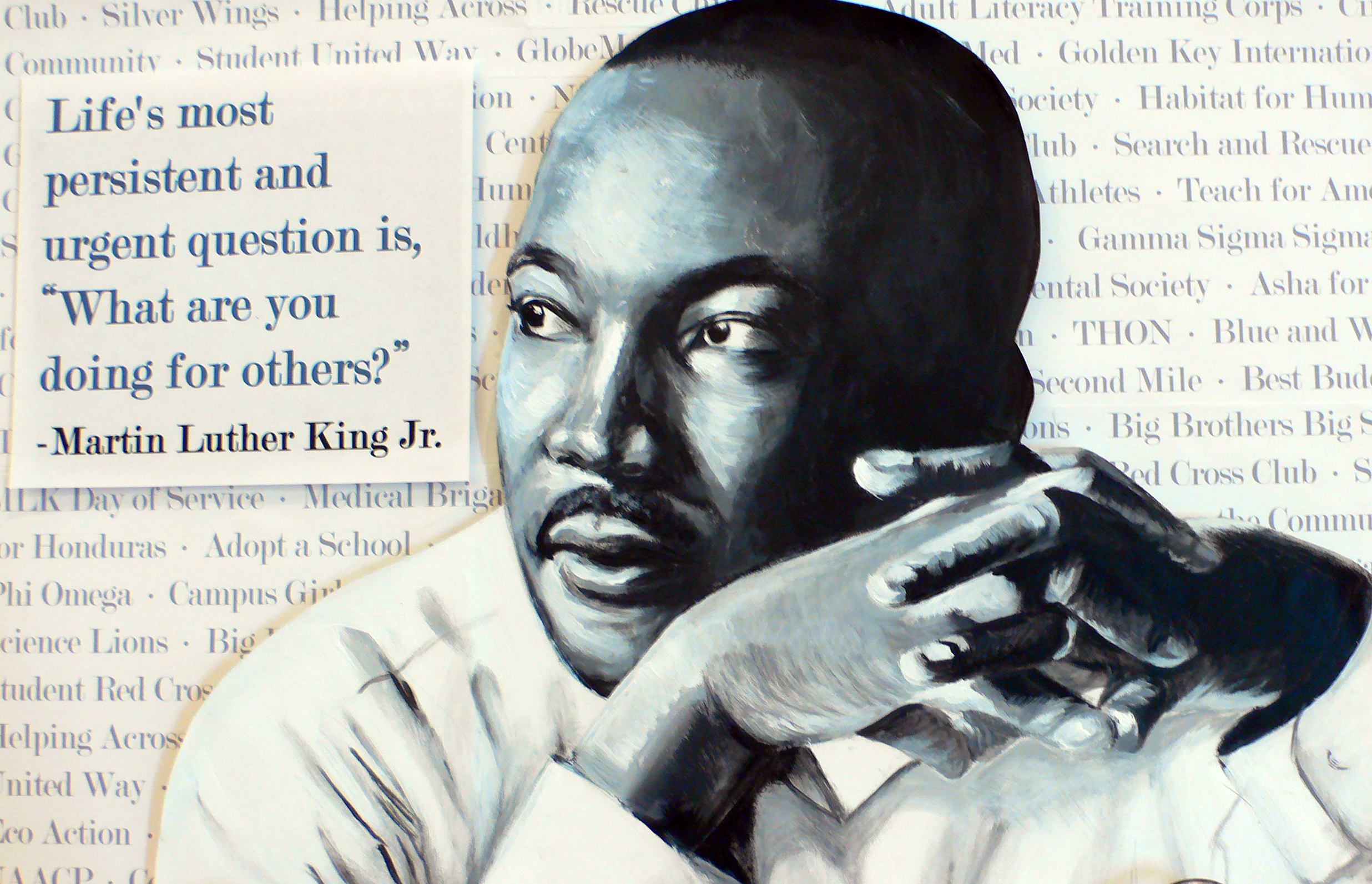 one example of the MLK art contest at Heritage Hall.